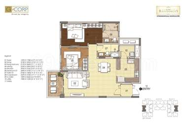 2 BHK Apartment in G Corp Residences