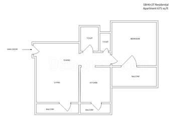 1 BHK Apartment in