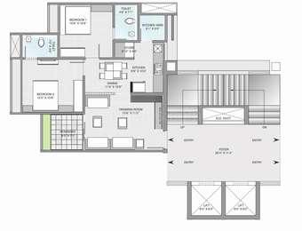 2 BHK Apartment in Gala Aria