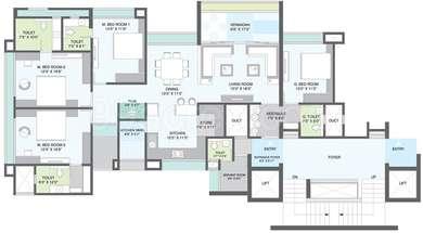 4 BHK Apartment in Gala Imperia
