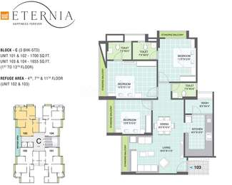 3 BHK Apartment in Gala Eternia
