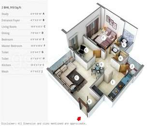 2 BHK Apartment in Gala Celestia