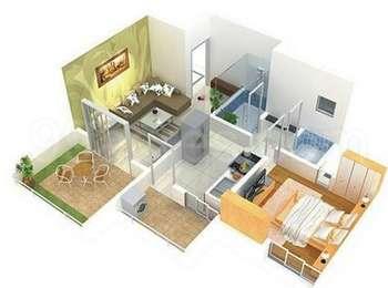 1 BHK Apartment in Ganesh Nakshatram