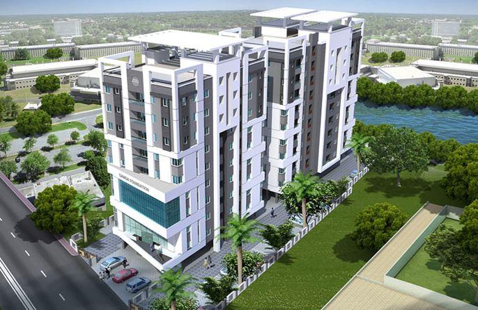 Ganga Ishana Apartments Aerial View