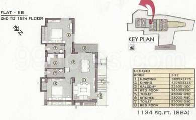 2 BHK Apartment in Ganguly 4 Sight Grand Castle