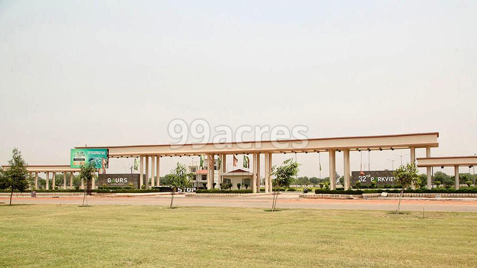Gaur Yamuna City 2nd Parkview Entrance