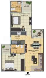 2 BHK Apartment in Gaur Cascades