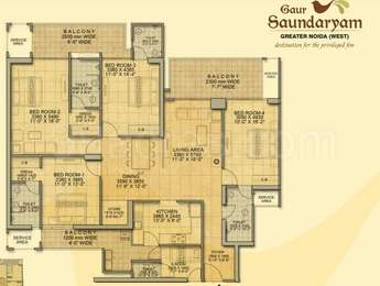 3 BHK / Bedroom Apartment / Flat for rent in Gaur ...