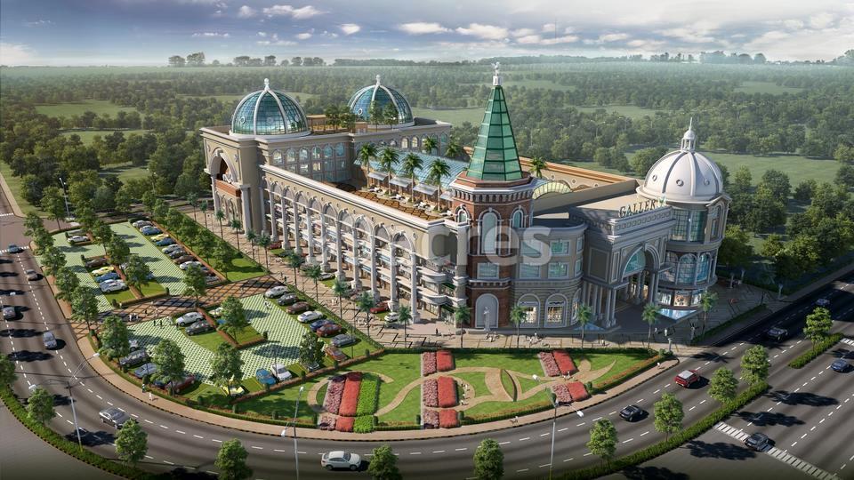 Galleria High Street Mall Aerial View