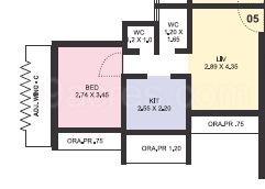 1 BHK Apartment in GBK Vishwajeet Greens