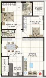 2 BHK Apartment in Gemini Lake Castle