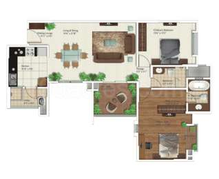 2 BHK Apartment in Gera Trinity Towers