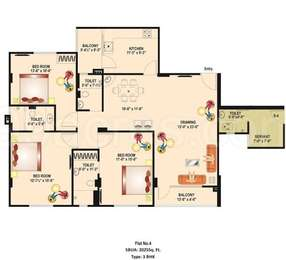3 BHK Apartment in GHP Indralok