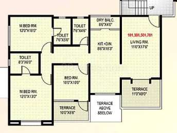 3 BHK Apartment in GK Rose Valley