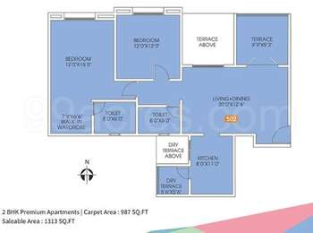 2 BHK Apartment in GKG The Kings Way