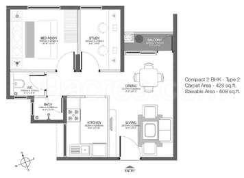1 BHK Apartment in Godrej Azure