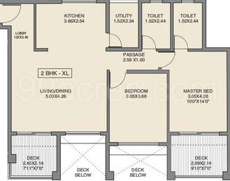 2 BHK Apartment in Godrej 24