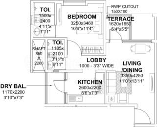 1 BHK Apartment in Godrej Infinity