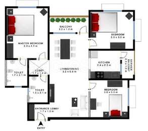 Godrej Prakriti - 3BHK+2T(14), Super Area: 1160 sq ft, Apartment