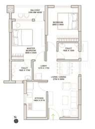 Godrej Prakriti - 2BHK+2T(5), Super Area: 830 sq ft, Apartment