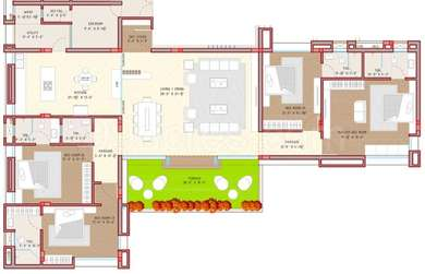 4 BHK Apartment in The Gods Gift