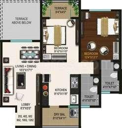 2 BHK Apartment in Ganga Glitz Shine