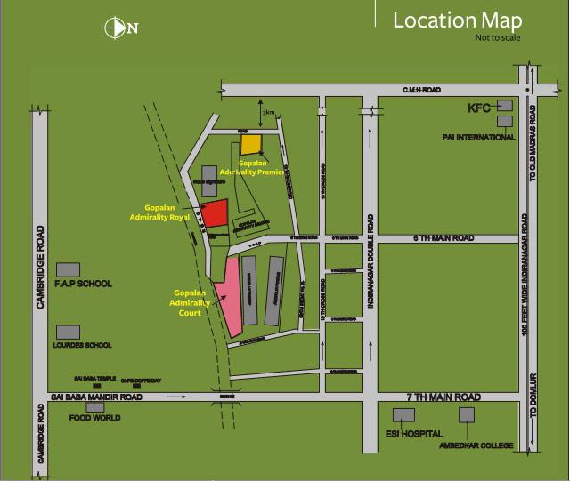 Indira Nagar Bangalore Map Gopalan Enterprises Gopalan Admirality Court Map   Gopalan