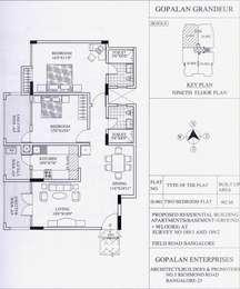 2 BHK Apartment in Gopalan Grandeur
