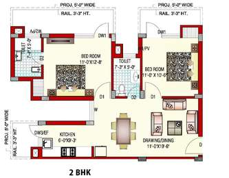 2 BHK Apartment in GPM Blossom Greens