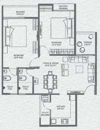 2 BHK Apartment in Grace City