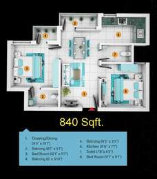 2 BHK Apartment in Green Delight