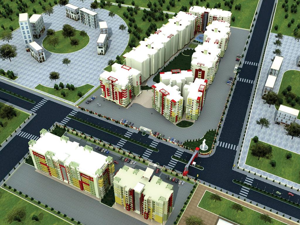 Gurushikhar Apartments Aerial View