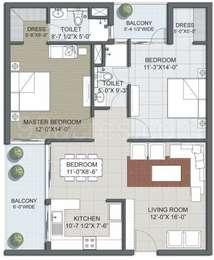 2 BHK Apartment in Hamilton Mayfair Residency