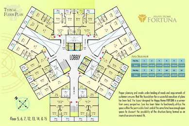 2 BHK Apartment in Happy Home Fortuna