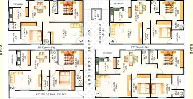Hari hara heights floor plan hari hara heights nizampet 2 bhk flat drawing