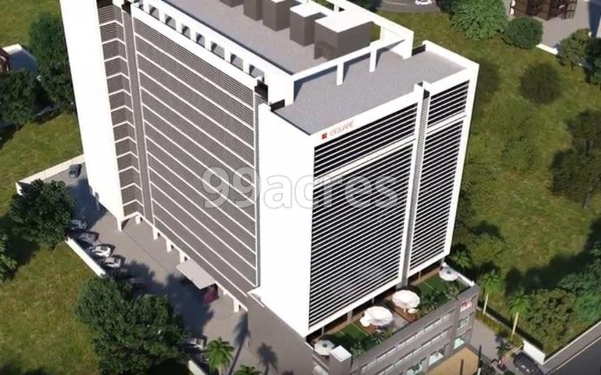 I Square Corporate Park Artistic Aerial View