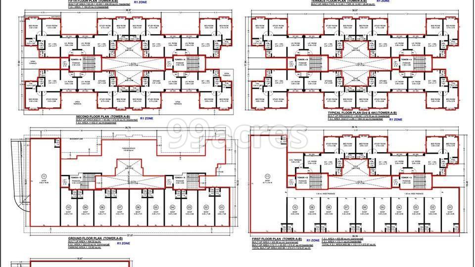 Harmony Heights Typical Floor Plan
