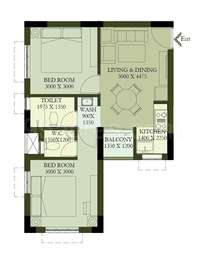 2 BHK Apartment in Hiland Greens