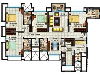 Hiranandani Heritage - 4BR-5T-1SR ( Estonia B )(7), Super Area: 1569 sq ft, Apartment
