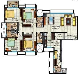 Hiranandani Heritage - 4BR-5T-1SR ( Estonia A )(9), Super Area: 2275 sq ft, Apartment
