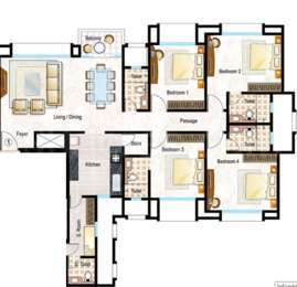 Hiranandani Heritage - 4BHK+5T+Store+Servant Room(6), Super Area: 1475 sq ft, Apartment