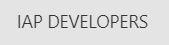 IAP Developers