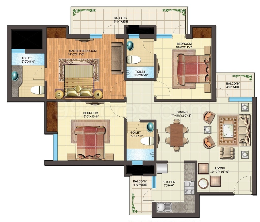 IITL Nimbus Group Express Park View 2 Floor Plan Express Park