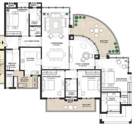 4 BHK Apartment in Indiabulls Enigma