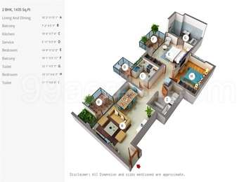 2 BHK Apartment in Ireo Victory Valley