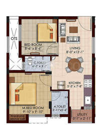 2 BHK Apartment in Isha Aabhirupam