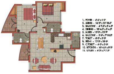 2 BHK Apartment in Jains Inseli Park
