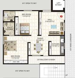 2 BHK Apartment in Janani Marvel