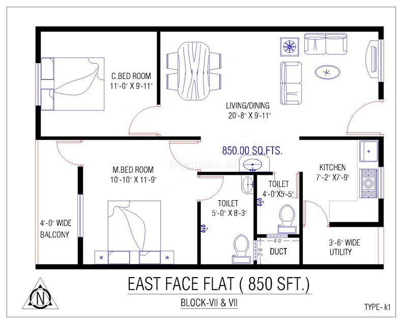 Indian House Plans For 1250 Sq Ft