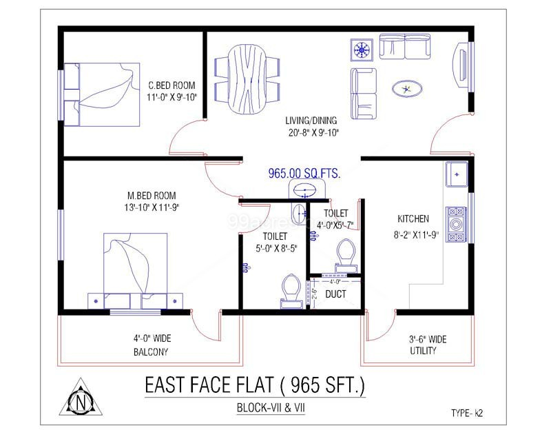 700 sq ft house plans east facing numberedtype Plan for 700 sq ft house